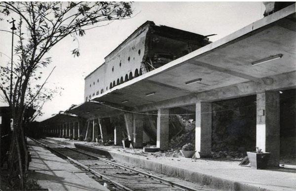 Стара железничка станица Скопје по земјотресот