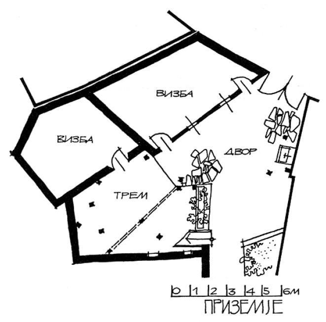 2 Основа на приземје - куќа на Тренчева Бона
