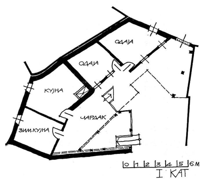 3 Основа на 1 кат - куќа на Тренчева Бона