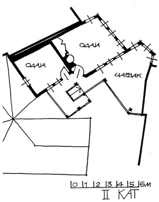 4 Основа на 2 кат - куќа на Тренчева Бона
