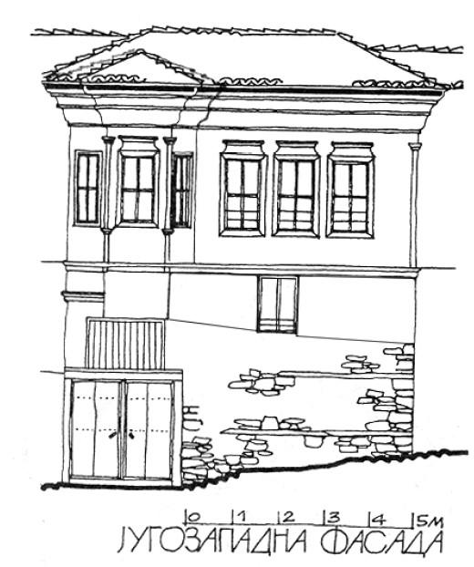 6 Фасада 2 - куќа на Тренчева Бона