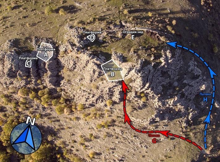 Кокино - мапа