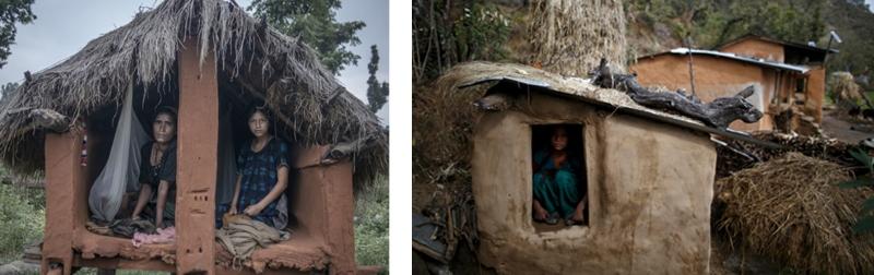 Менструални колиби - Непал